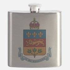 Quebec Coat Of Arms Flask