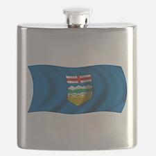 Wavy Alberta Flag Flask