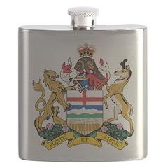 Alberta Coat Of Arms Flask