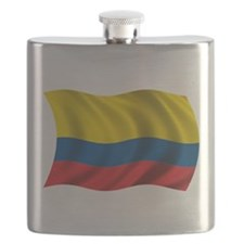 Wavy Colombia Flag Flask