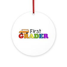 First Grader Ornament (Round)