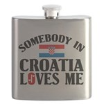 Somebody In Croatia Flask
