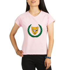 Cyprus Coat Of Arms Performance Dry T-Shirt