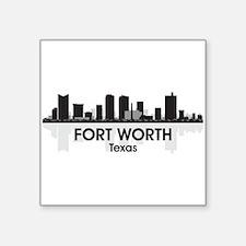 "Fort Worth Skyline Square Sticker 3"" x 3"""