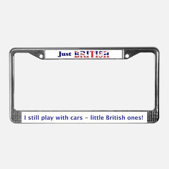 Just British License Plate Frame
