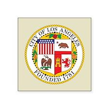 "Los Angeles Seal Square Sticker 3"" x 3"""
