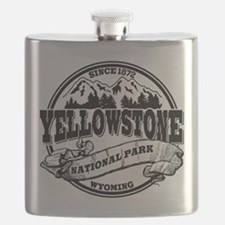 Yellowstone Old Circle Black.png Flask
