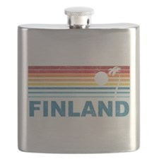Vintage Palm Tree Finland Flask