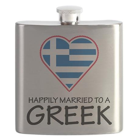 Happily Married Greek Flask
