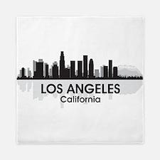Los Angeles Skyline Queen Duvet
