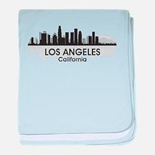 Los Angeles Skyline baby blanket