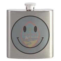 Guam Smiley Flask