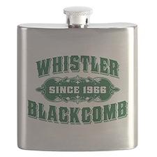 Whistler Blackcomb Old Green Flask