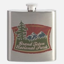 Grand Teton Mountain Tree Logo.png Flask