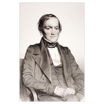 1850 Richard Owen portrait paleontologist Poster