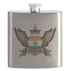 India Emblem Flask