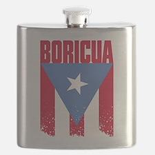 Boricua Flag Flask