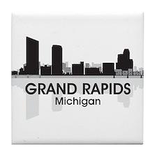 Grand Rapids Skyline Tile Coaster