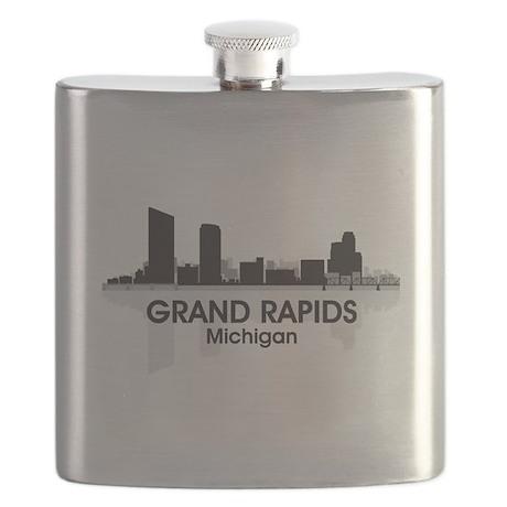 Grand Rapids Skyline Flask