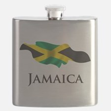Map Of Jamaica Flask