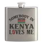 Somebody In Kenya Flask
