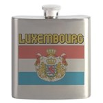 Luxembourg Flag Flask