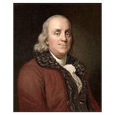 1778 Benjamin Franklin scientist Poster
