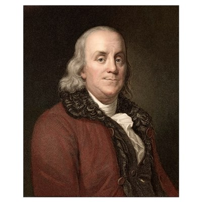1778 Benjamin Franklin scientist Poster