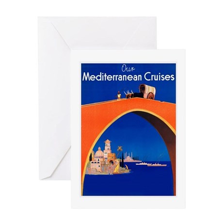 Mediterranean Travel Poster 1 Greeting Card