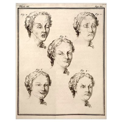 1749 Human emotions and expression Buffon Poster