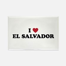 I Love El Salvador Rectangle Magnet