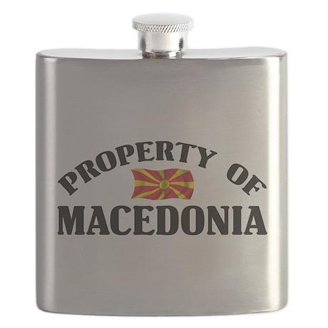 Property Of Macedonia Flask