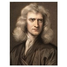 1689 Sir Isaac Newton portrait young Canvas Art