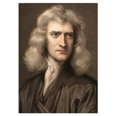 1689 Sir Isaac Newton portrait young Poster