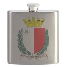 Malta Coat Of Arms Flask