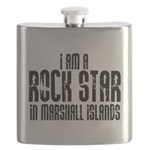 Rock Star In Marshall Islands Flask