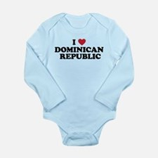 I Love Dominican Republic Long Sleeve Infant Bodys