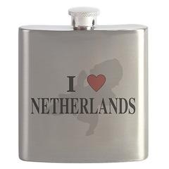 I Love Netherlands Flask
