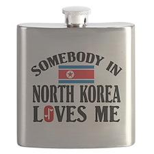 Somebody In North Korea Flask