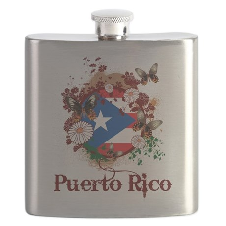 Butterfly Puerto Rico Flask