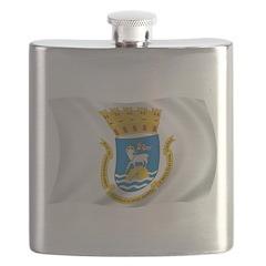 Wavy San Juan Flag Flask