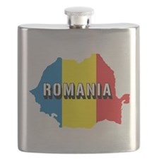 Map Of Romania Flask