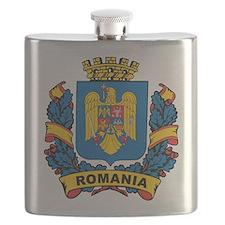 Stylish Romania Crest Flask
