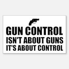 Gun Control 2 Sticker (Rectangle)