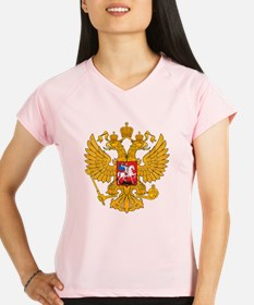 Russia 2 Headed Eagle Performance Dry T-Shirt