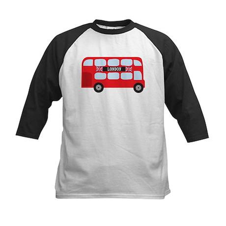 London Double-Decker Bus Kids Baseball Jersey