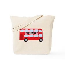 London Double-Decker Bus Tote Bag
