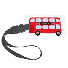 London Double-Decker Bus Luggage Tag