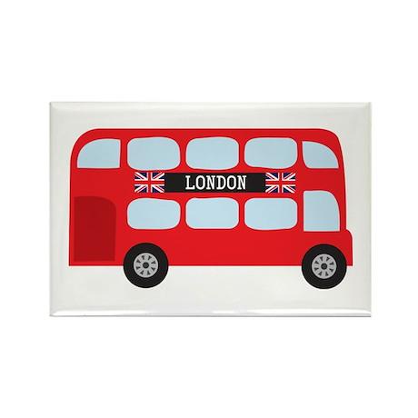 London Double-Decker Bus Rectangle Magnet (100 pac