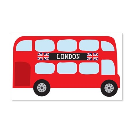 London Double-Decker Bus 20x12 Wall Decal